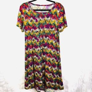 LulaRoe Carly Dress In Fall colors